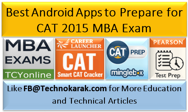 Best Android Apps to Prepare for CAT 2015 MBA Exam