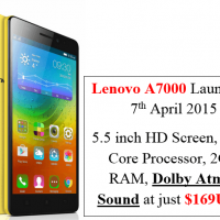 Lenovo A7000 Launch on 7th April 2015