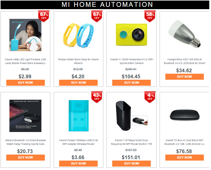 Xiaomi MI Automation Products 2015