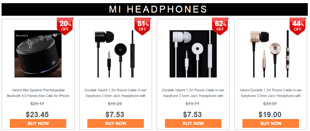 Xiaomi MI mobile accessories, bluetooth speaker, earphones