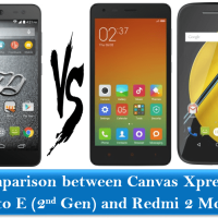 Comparison between Canvas Xpress 2, Moto E (2nd Gen) and Redmi 2 Mobile