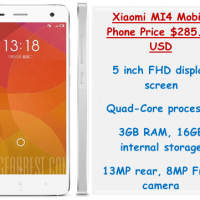 Xiaomi MI4 Mobile Phone Price $285.99 USD