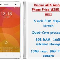 Xiaomi MI4 Mobile Phone Price $285.99 USD