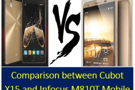 Comparison between Cubot X15 and Infocus M810T Mobile
