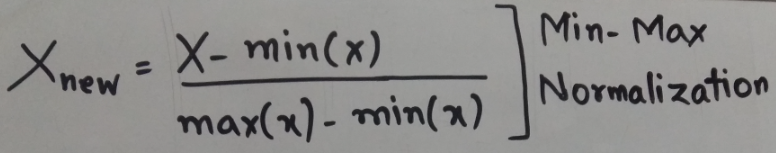 Min-Max Normalization-formula